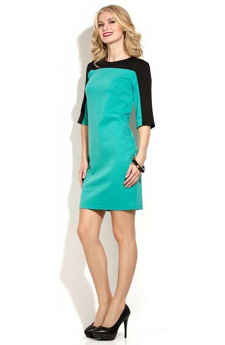 Фото с двухцветным платьем
