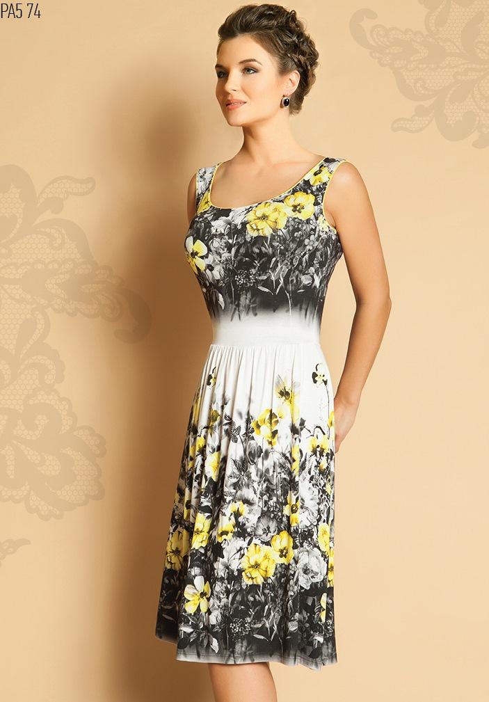 Летнее трикотажное платье модели