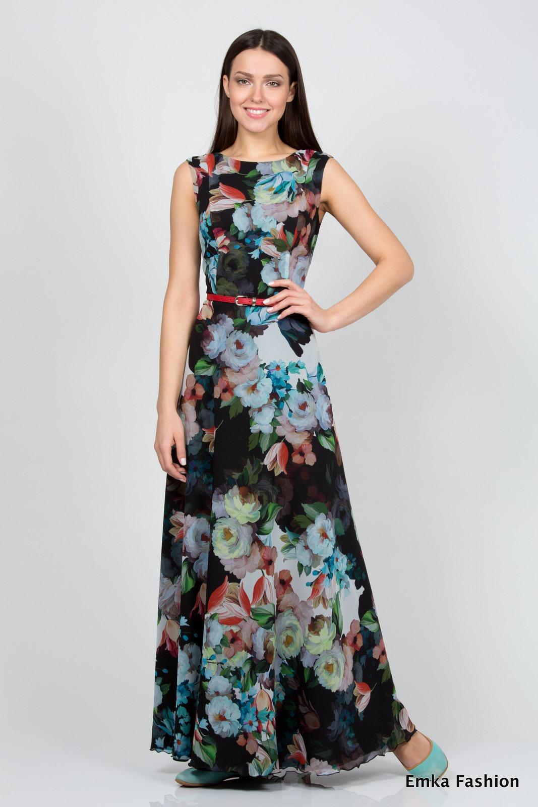 Летнее красивое длинное платье