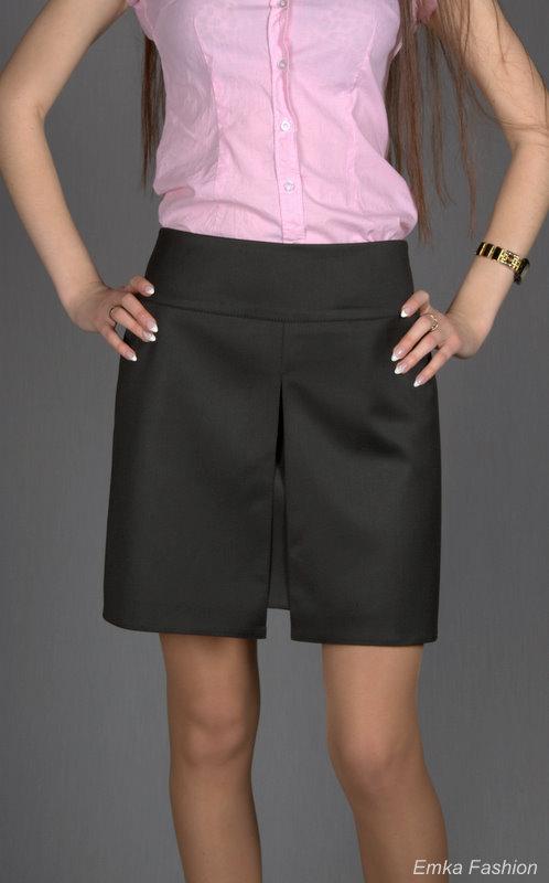 Короткая черная юбка доставка