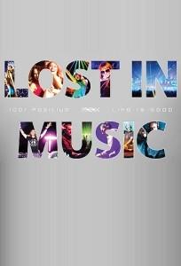 Женская клубная футболка Lost in music