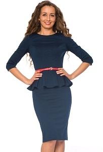Темно-синее платье Donna Saggia   DSP-66-41t