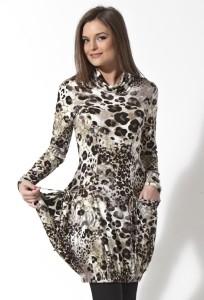 Леопардовое платье-туника   B2 140