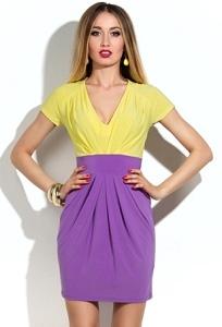 Короткое яркое платье | DSP-22-54t