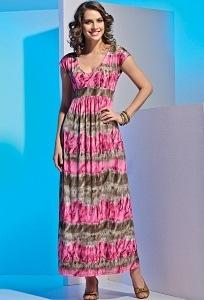 Длинное летнее платье TopDesign 2013 A4 011