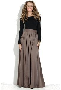 Длинные юбки в пол из трикотажа