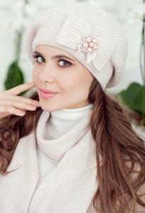 Комплект (шапка+шарф) Landre Серафима (бежевый)