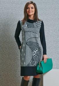 Трикотажное платье TopDesign B4 027