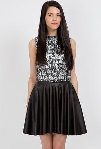 Черная юбка-полусолнце Emka Fashion 509-sia
