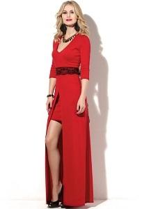 Эффектное платье красного цвета Donna Saggia DSP-184-29t