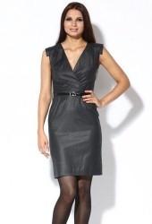 Темно-серое платье