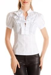 Белая блузка Golub с коротким рукавом