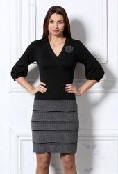 Чёрно-серое платье