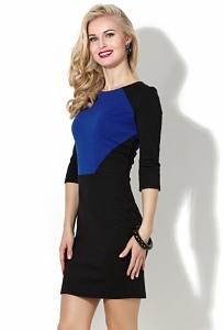 Чёрно-синее платье Donna Saggia DSP-50-37t