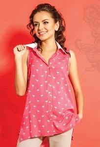 Удлиненная летняя блуза TopDesign A5 091