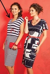 Полосатое платье Topdesign A5 104