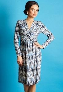 Прямое трикотажное платье TopDesign B5 039