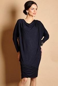 Тёмно-синее платье TopDesign B5 026