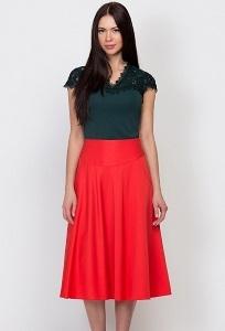 Юбка красного цвета Emka Fashion 527-ariba