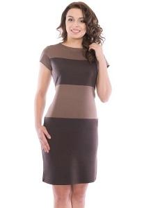 Коричневое платье Rosa Blanco 3015