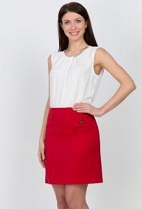 Красная короткая юбка Emka Fashion 593-galateya