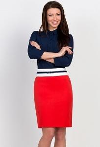 Красно-белая юбка Emka Fashion 535-madina
