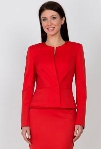 Красный жакет Emka Fashion ML-506/madina