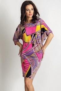 Трикотажное летнее платье TopDesign A6 046
