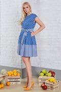 Летнее платье в синий горошек TopDesign A8 079