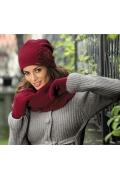 Женская шапочка красного цвета Kamea Cruz