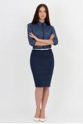 Тёмно-синяя юбка Emka Fashion 620-vivit