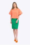 Зеленая юбка из весенней коллекции Emka S663/sabina