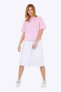 Летняя белая расклешенная юбка Emka 680-1/agua