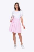 Расклешенная юбка в розовую клетку Emka 692/elizabeth