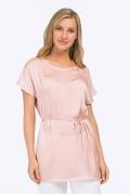 Летняя блузка бледно-розового цвета Emka B2319/rozy