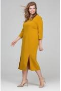 Горчичное платье Donna Saggia DSPB-22-5 (осень-зима 17/18)