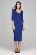 Синее платье с рукавом три четверти Donna Saggia DSP-296-37t