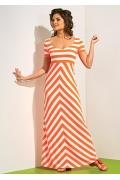 Длинное летнее платье в полоску TopDesign A4 036