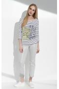 Блузка с длинным рукавом в полоску Sunwear I04-4-19