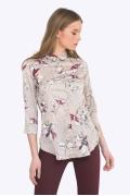 Женская рубашка с рукавом три четверти Emka B2198/cherish