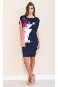 Летнее тёмно-синее трикотажное платье Zaps Junona
