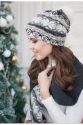 Комплект (шапка+шарф) Landre Джемми (графит/серый)