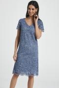 Приталенное платье из синего кружева Ennywear 250049