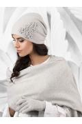 Женская шапочка светло-серого цвета Kamea Jassy