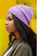 Сиреневая шапка Brand 69 Inessa