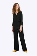 Широкие брюки черного цвета на резинке Emka D144/urban