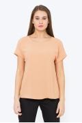 Блузка прямого кроя персикового цвета Emka b 2245/mirinda