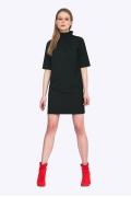 Платье со сборкой по горловине Emka PL663/lenora