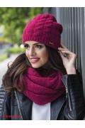 Малиновая женская шапка Kamea Violeta