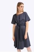 Платье темно-синего цвета А-силуэта Emka PL788/misty